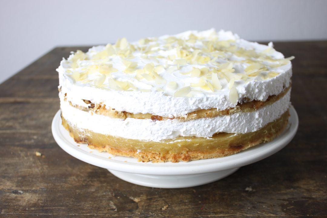 Vegane Rhabarber Sahne Torte Brokkolibastards