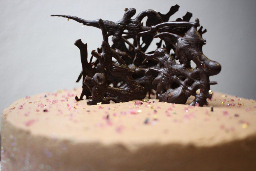 Für echte Schokofans genau das Richtige: vegane Schokoladentorte