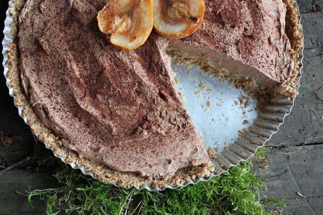 Glutenfreie Und Vegane Birnen Tarte Mit Schokoladenganache Und