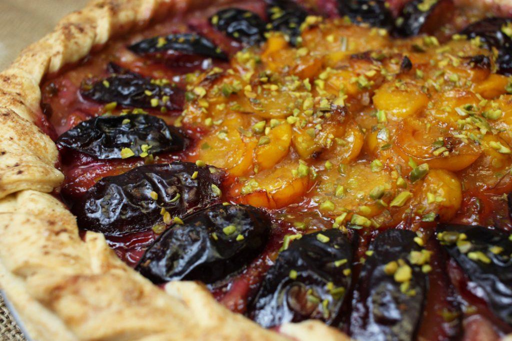 Veganer Pflaumen Pie schmeckt herbstlich fruchtig
