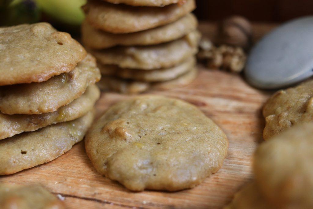 Soft Cookies: Vegane Bananen-Walnuss-Kekse