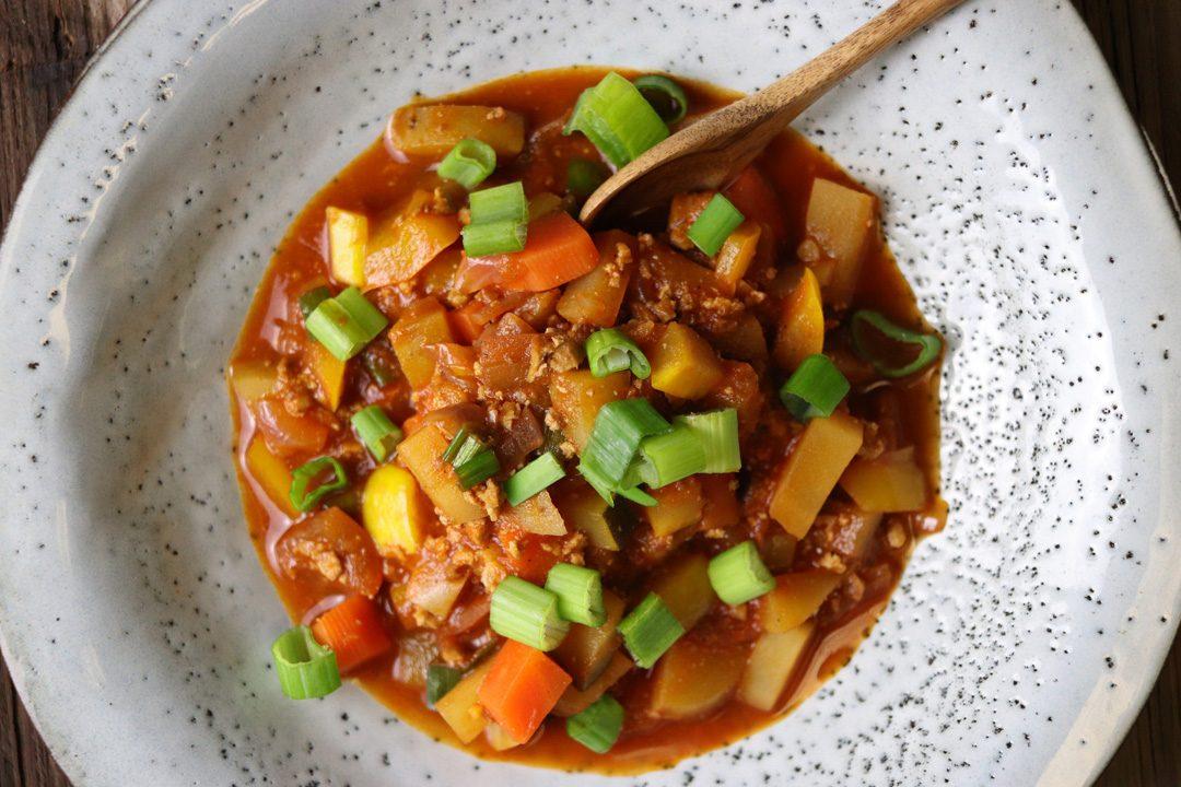 Schnelle Küche: Glutenfreier und veganer Bauerntopf